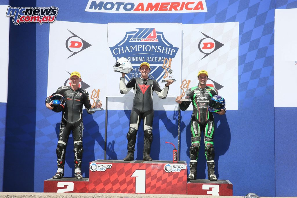 Superstock 600 Race 2 Podium