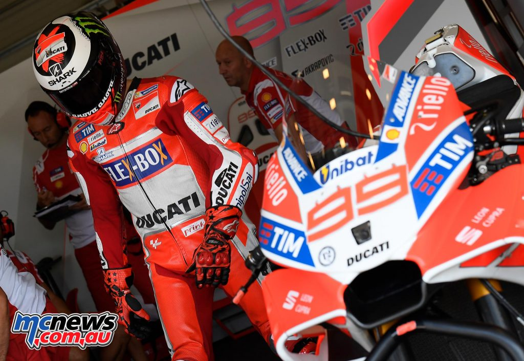 Ducati debuted a radical new front fairing design recently