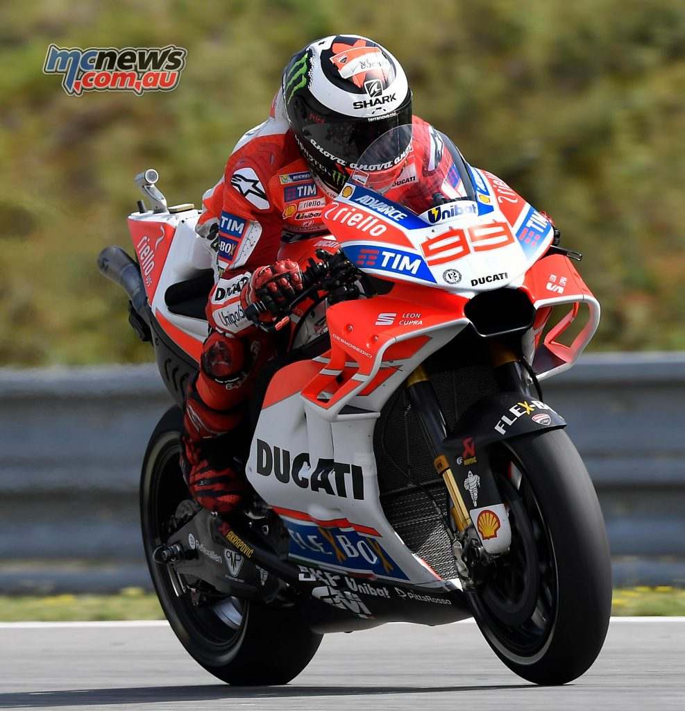 Radical new front end fairings for the Ducati debuted at Brno
