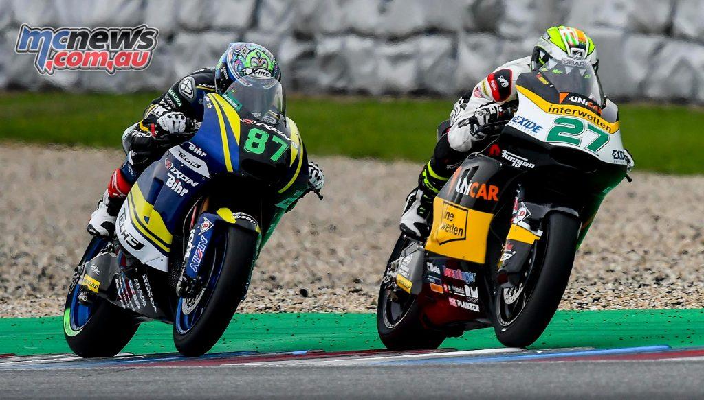Remy Gardner chasing Franco Morbidelli