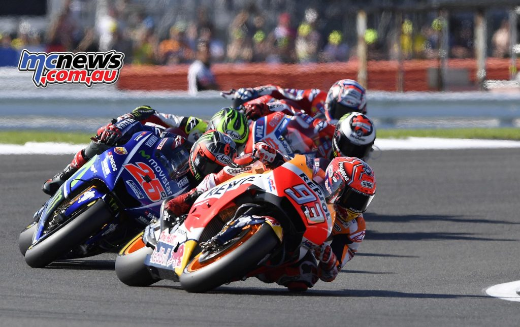 Marquez led the charge to close the distance on Rossi