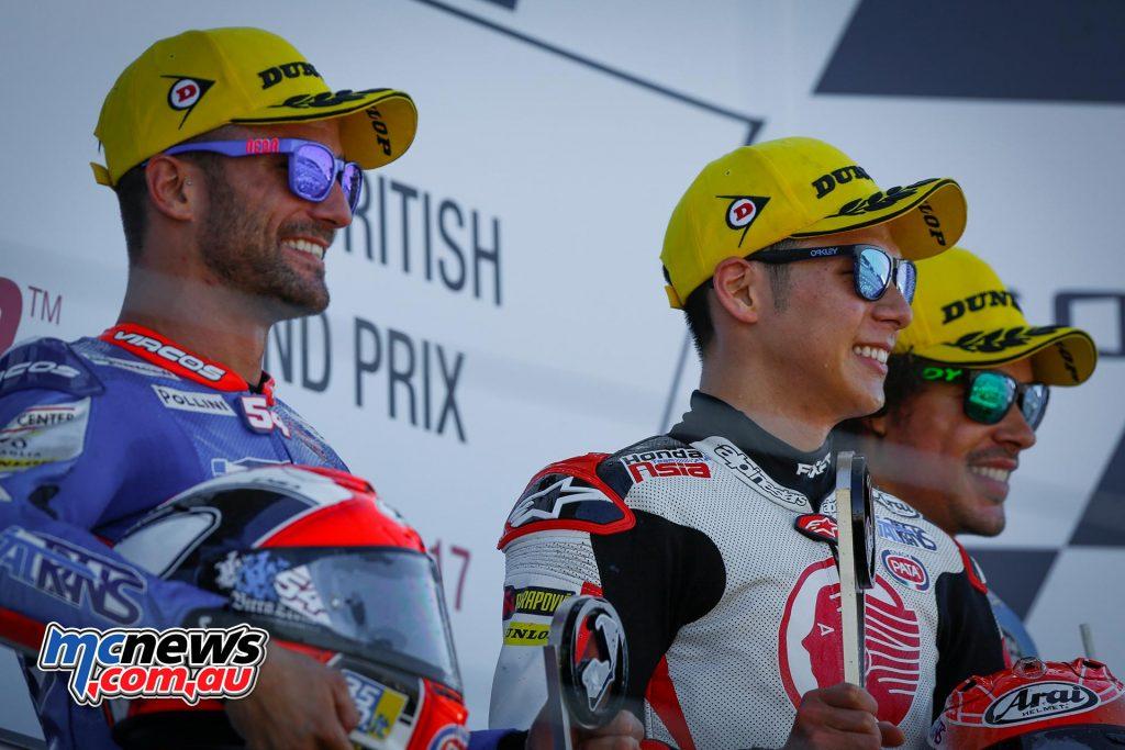MotoGP 2017 – Round 12 – Silverstone - Moto2 Race Results Takaaki Nakagami (JPN - Kalex) 38'21.607 Mattia Pasini (ITA - Kalex) +0.724 Franco Morbidelli (ITA - Kalex) + 2.678