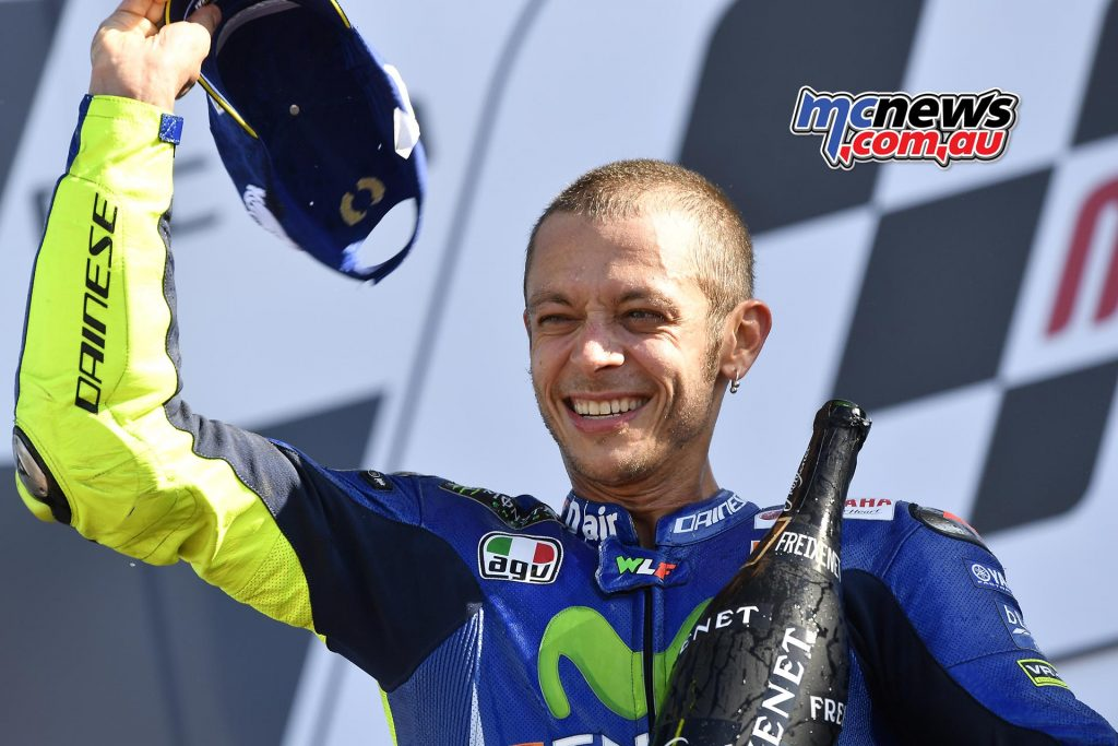 Valentino Rossi completed the podium