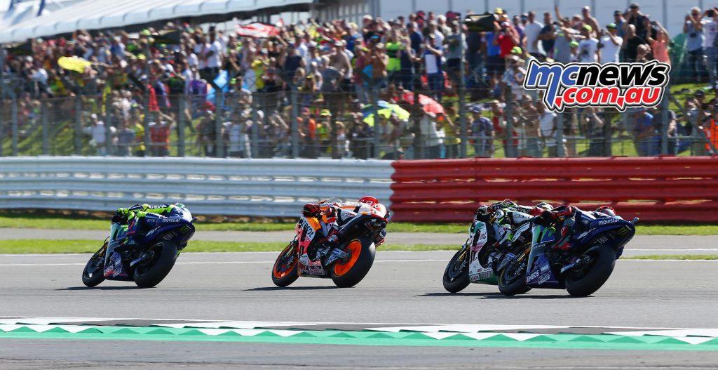 Valentino Rossi leads