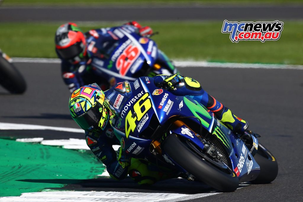 Rossi at Silverstone where he took third on the podium
