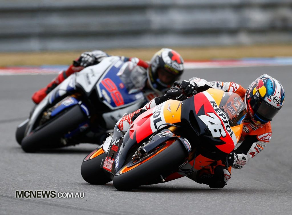 Dani Pedrosa battled hard down to the wire with Jorge Lorenzo for victory at Brno in 2012 - Image by AJRN