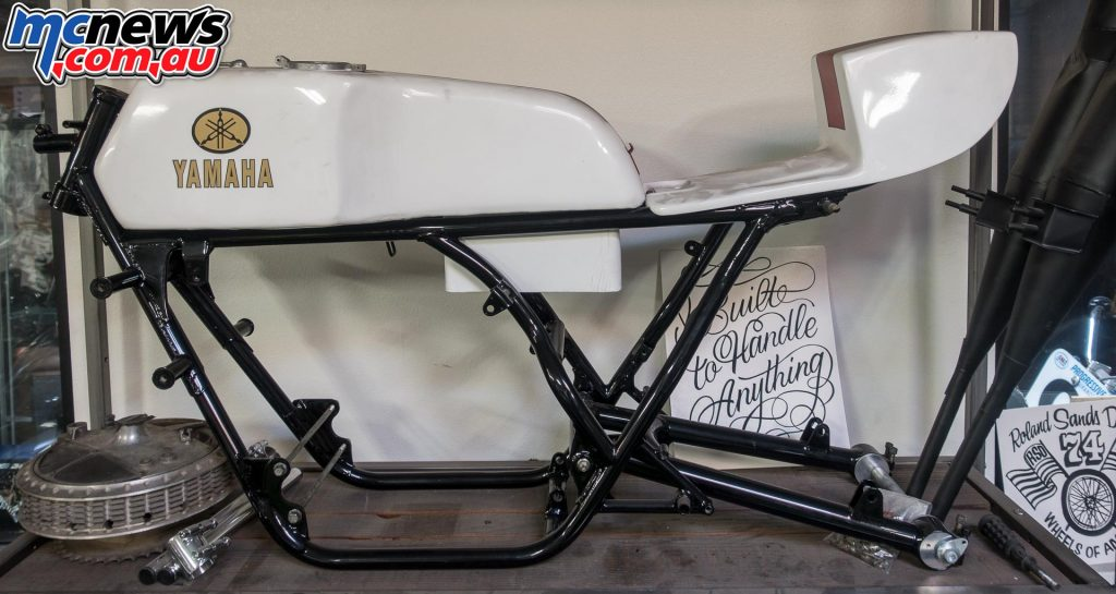 Roland Sands - TZ Yamaha frame is beautiful in its purposeful simplicity