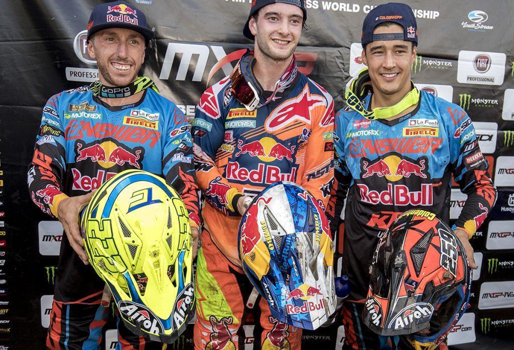 The all KTM MX1 podium
