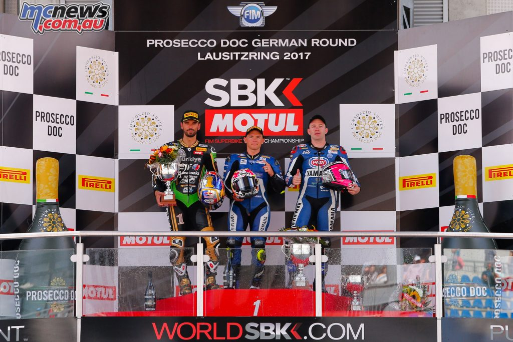 Sheridan Morias topped the SSP podium at Lausitzring with Sofuoglu and Mahias completing the top three
