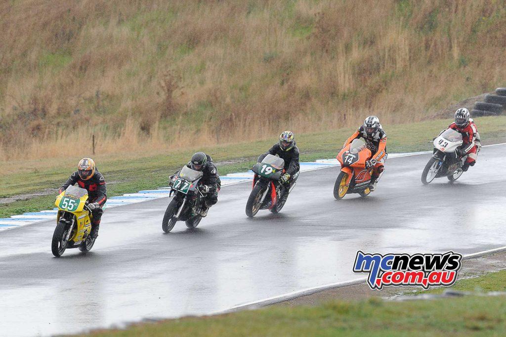 Saturday's racing was wet wet wet