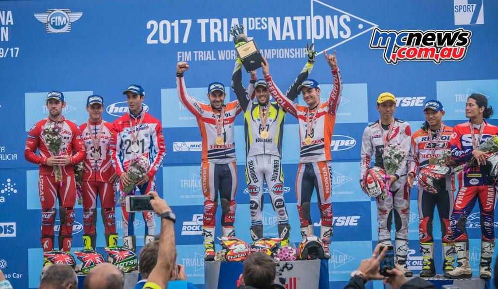 Toni Bou - Repsol Honda with Adam Raga - TRRS and Jaime Busto - Repsol Honda