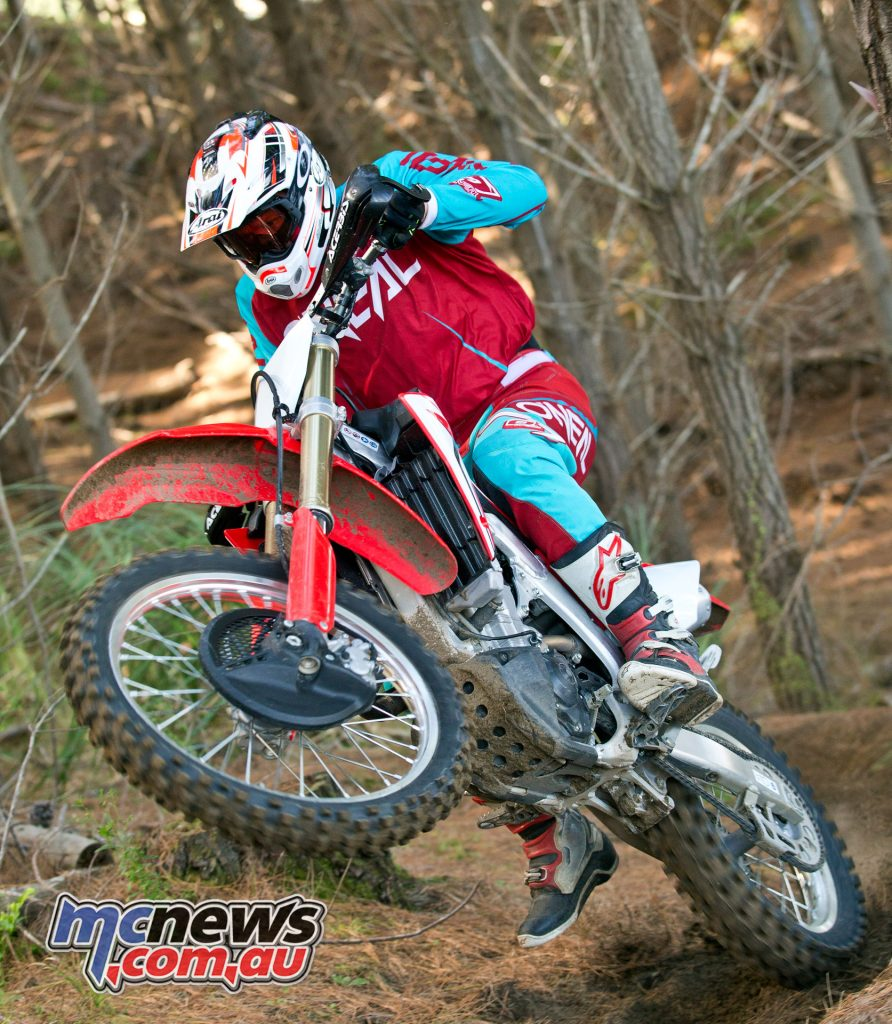 The majority of riders will be very happy with the CRF450RX's suspension