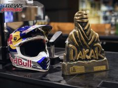Toby Price's Dakar winning helmet will be on display at the Sydney Motorcycle Show