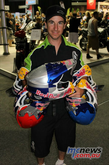 Mark 'Brownie' Brown with some of his airbrushed creations.