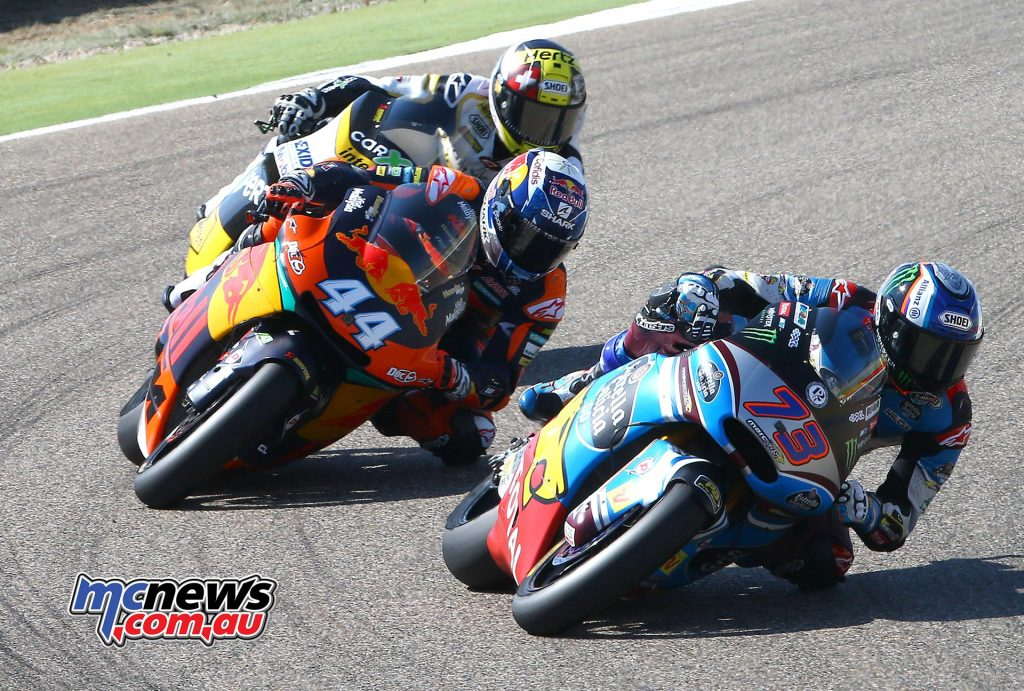 Álex Márquez was strong early in the race at Aragon before succumbing to injury and pulling out of the race