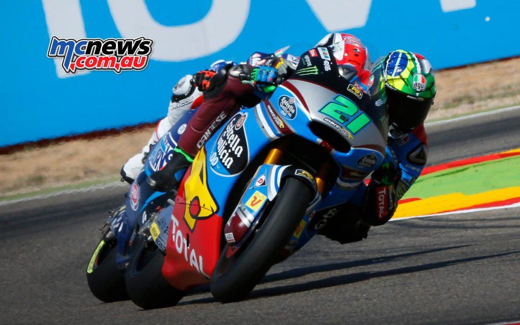 MotoGP 2017 - Round 14 - Aragon Moto2 - Franco Morbidelli in battle with Mattia Pasini