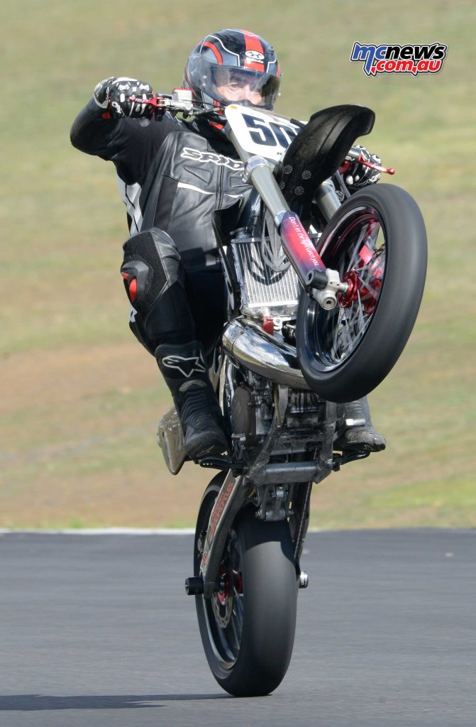 Julian Winlow taming his Honda CR500