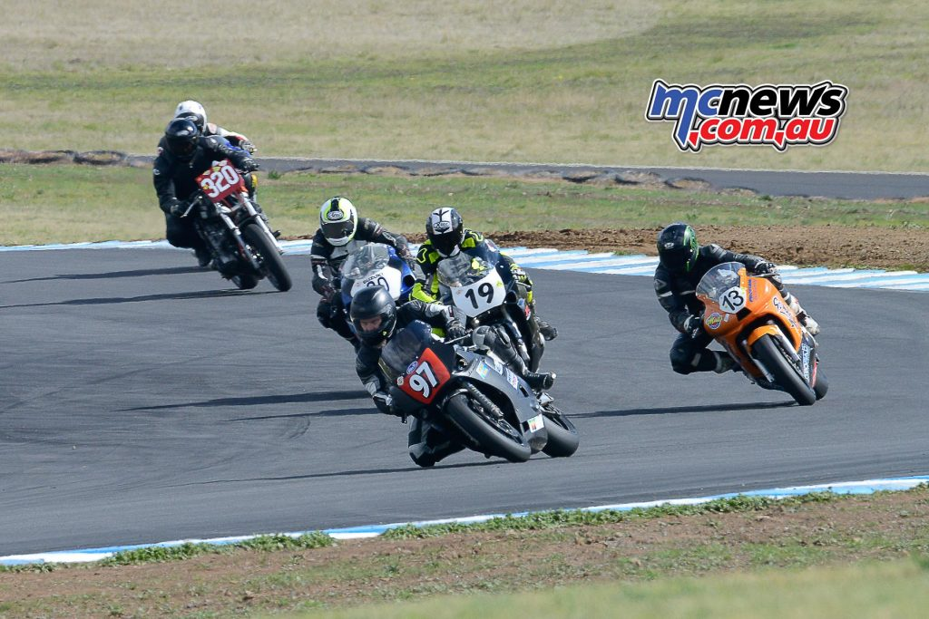 McCullagh leads the Open Class into the Esses