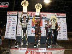 Privateer Jeffrey Carver Jr. took his career first win in the AFT Twins class, as well as the first victory for Harley Davidson for the year