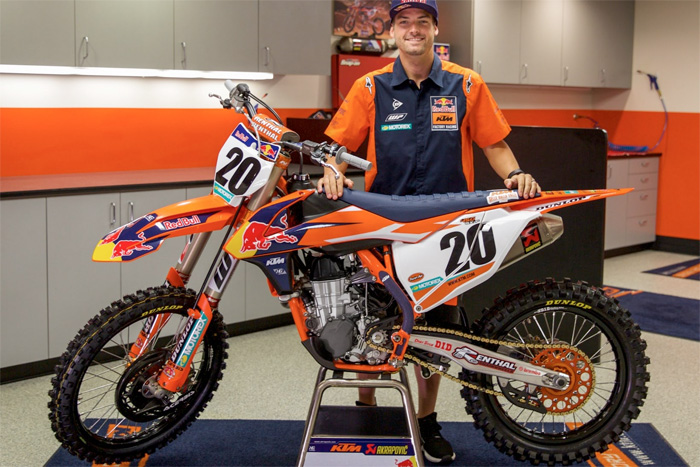 Broc Tickle to join KTM for AMA SX alongsive Marvin Musquin