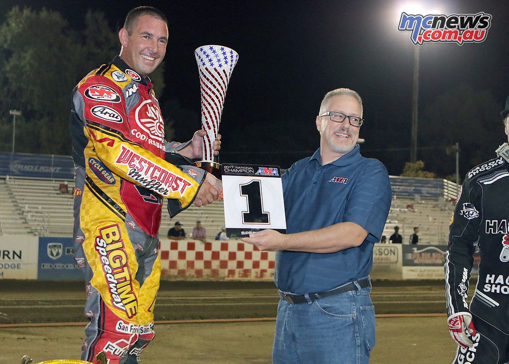 Billy Janniro takes the AMA Speedway National Championship