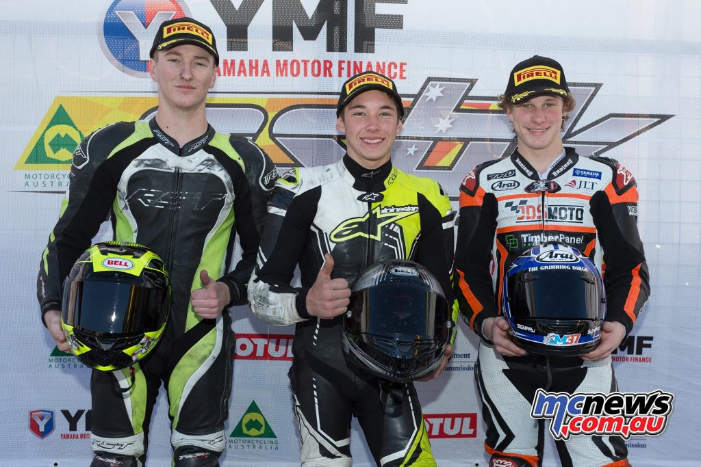 Yamaha Motor Finance R3 Cup - Race One Results Tom Edwards Hunter Ford +0.070 Jack Mahaffy +0.122