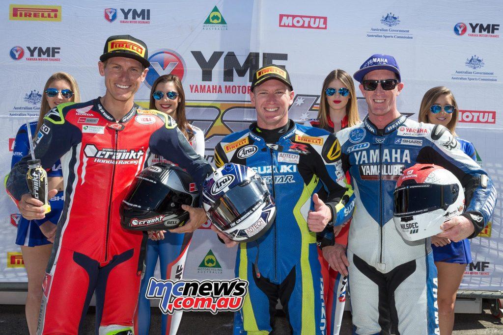 Yamaha Motor Insurance Superbike - Race One Results Josh Waters - Suzuki Troy Herfoss - Honda +2.660 Wayne Maxwell - Yamaha +4.180