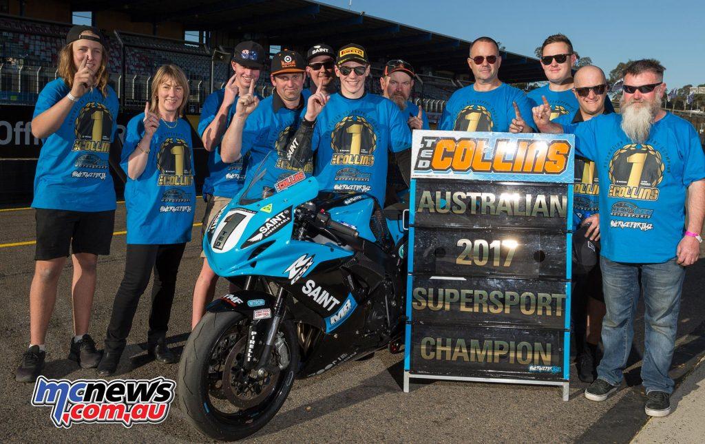 NextGen Suzuki's Ted Collins - 2017 Australian Supersport Champion - Image by TBG