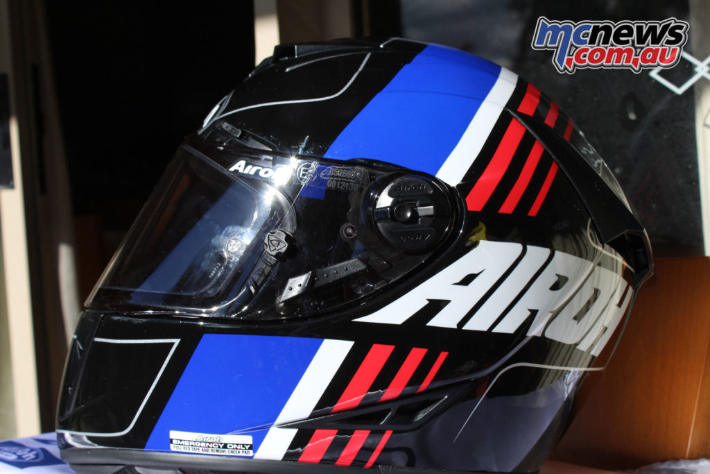 When it came time to try a variety of helmets the Airoh GP500 ticked all the boxes - Pictured colour scheme not currently available in Australia