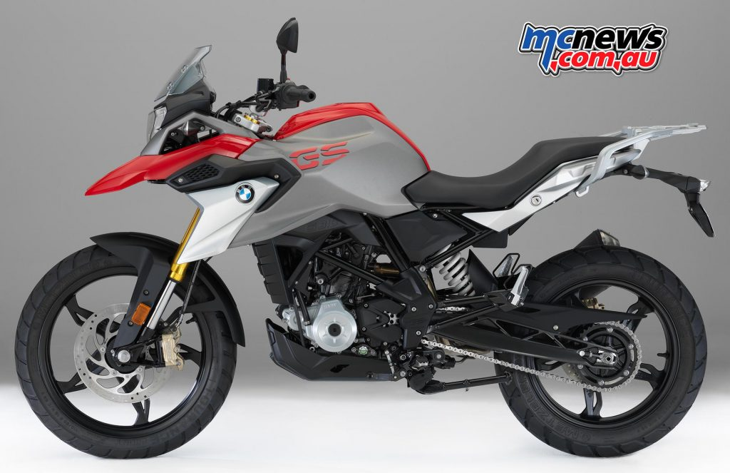 The BMW G 310 GS in Racing Red non-metallic