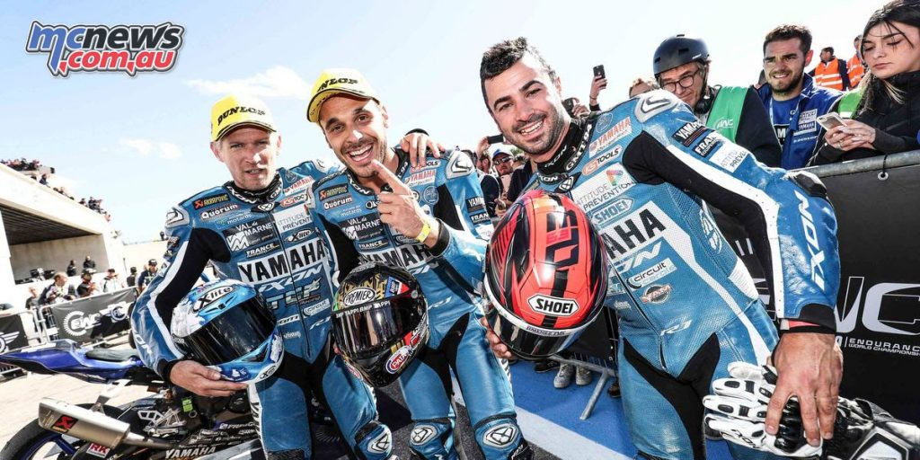 The GMT94 Yamaha team won this year's EWC Bol d'Or
