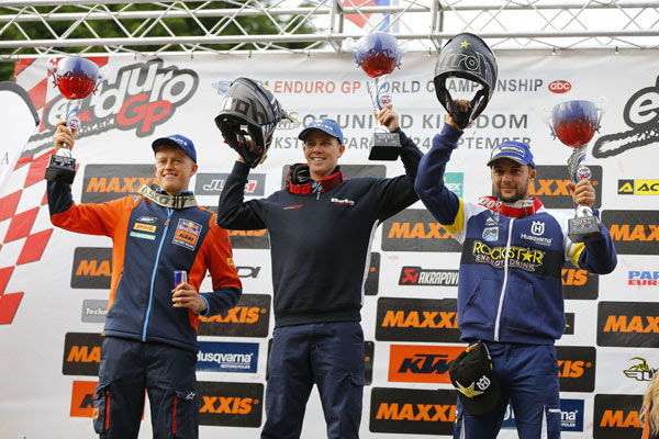 EnduroGP Day 1 Podium
