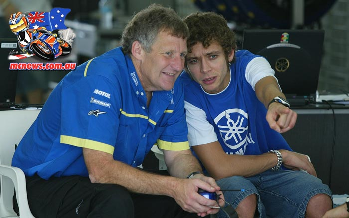 Valentino Rossi and Jeremy Burgess - 2005 - Image by AJRN