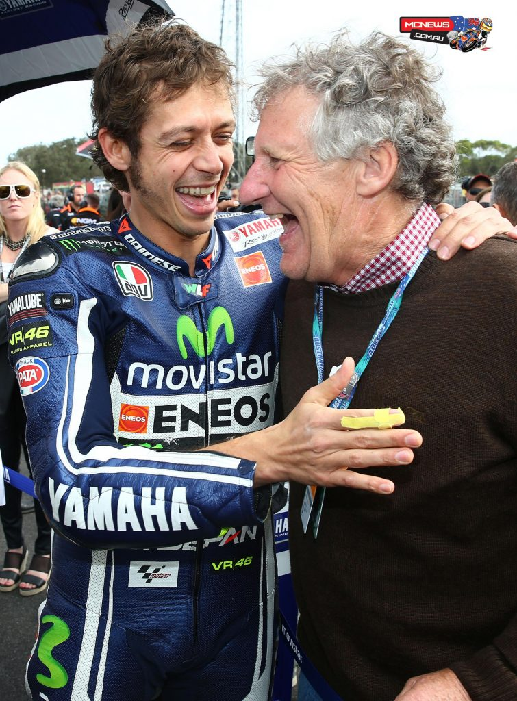Valentino Rossi and Jeremy Burgess - 2014 - After he had been replaced by Silvano Galbusera and had retired - Image by AJRN