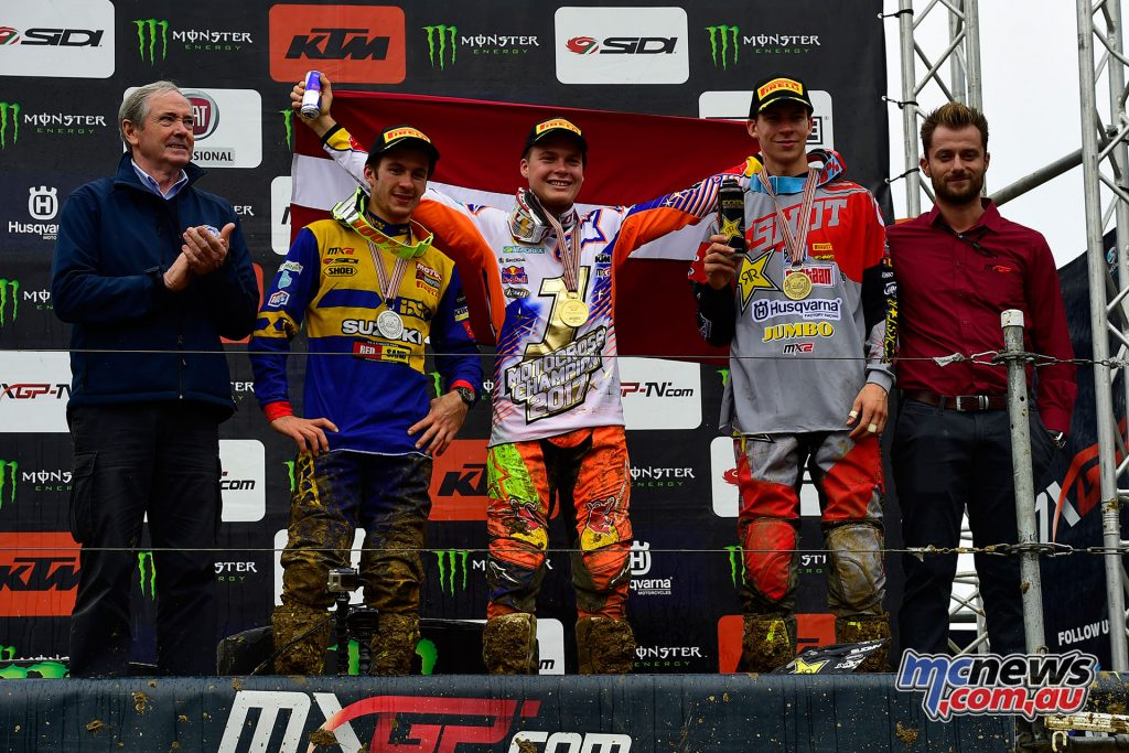 The MX2 top three in France