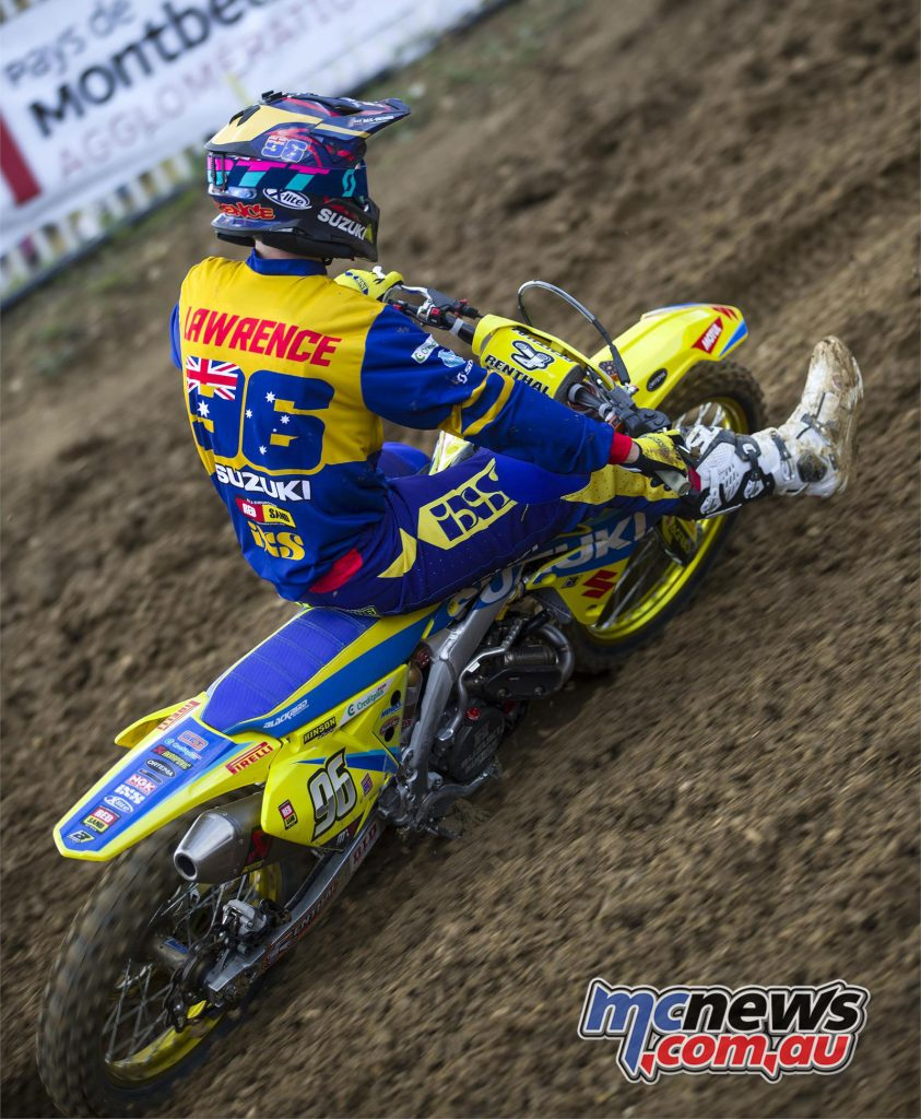 Lawrence topped the MX2 qualifying