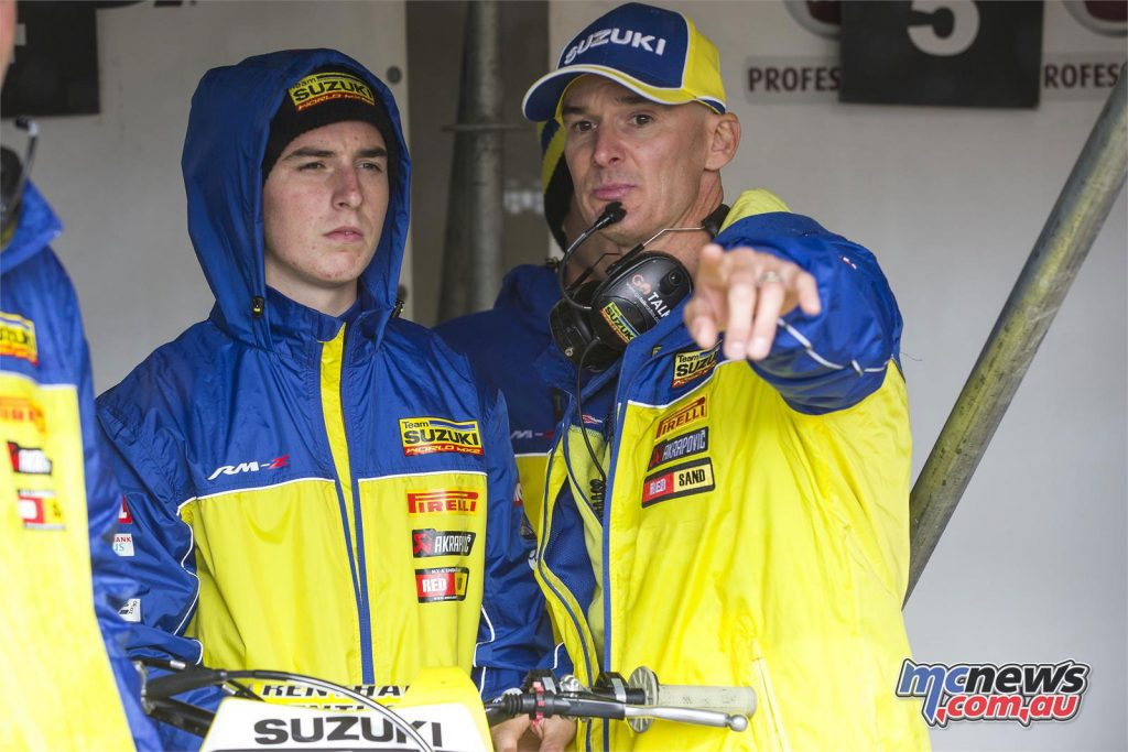 Hunter Lawrence with Stefan Everts