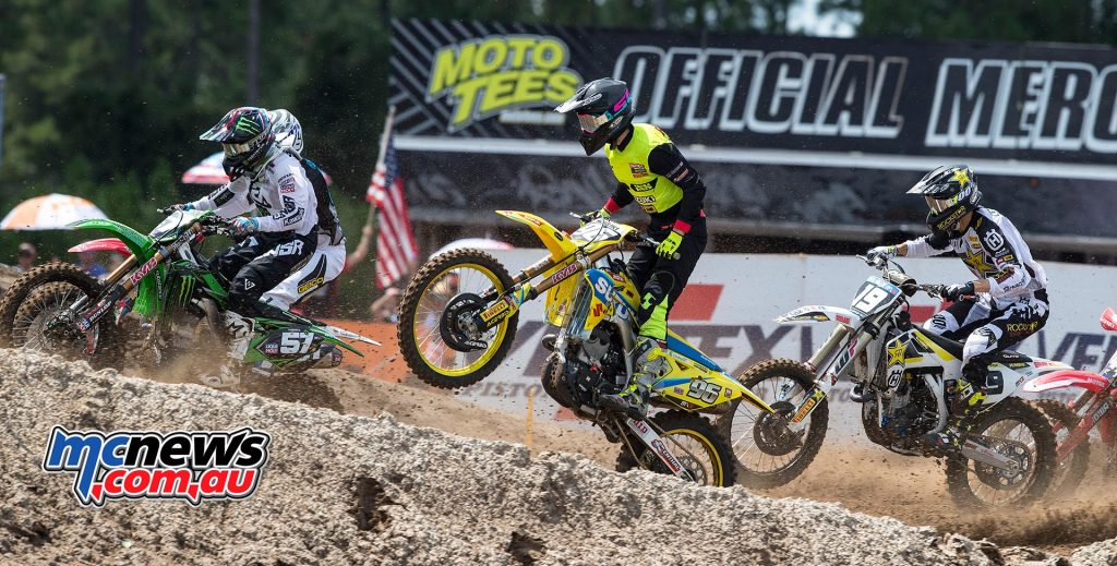 Hunter Lawrence scored a double podium recently in the USA