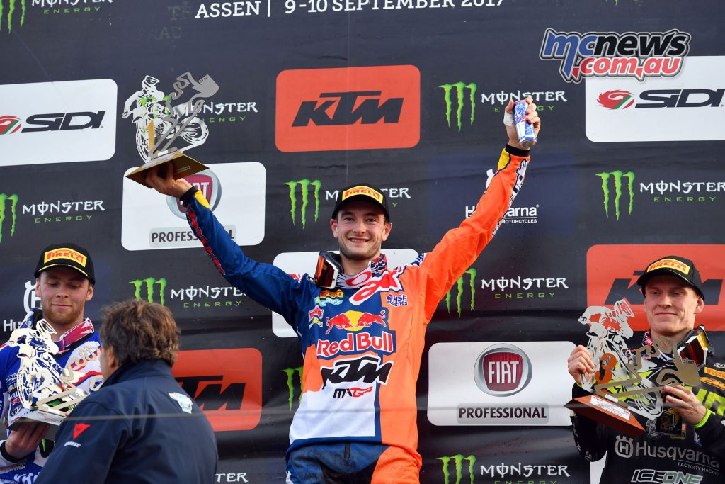 Herlings took the top spot on the podium for the Dutch round