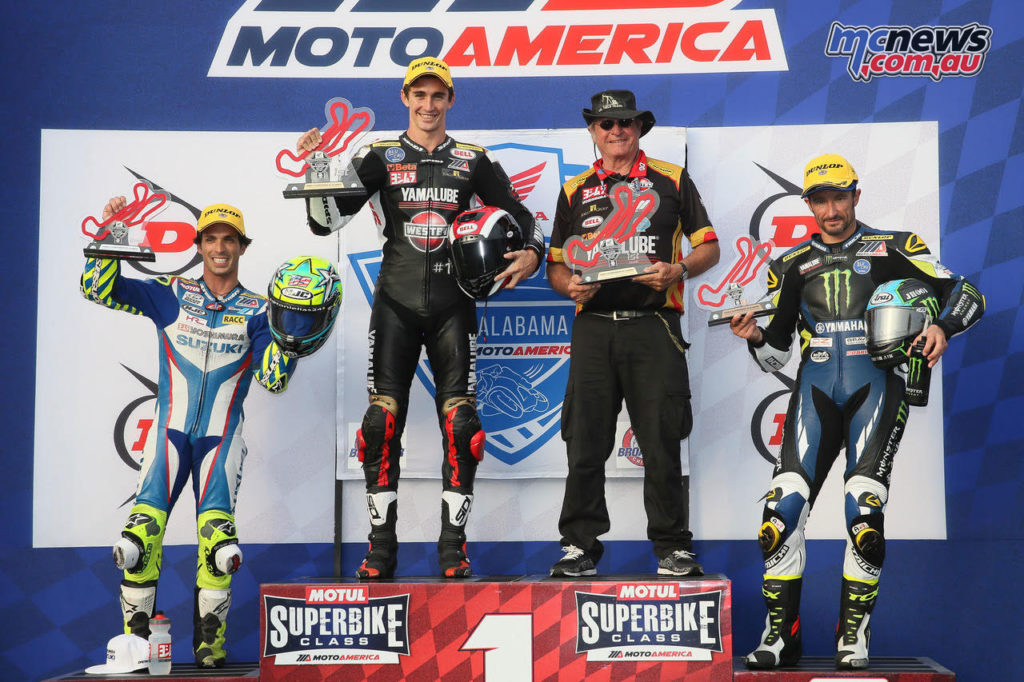 Scholtz made history taking the Superbike win in Race 2 on his Superstock machine