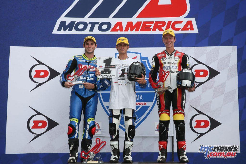 Superstock 600 Race 2 Podium