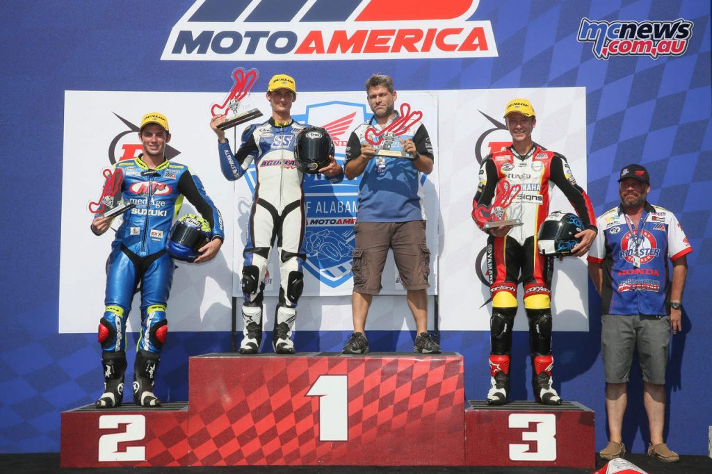 Superstock 600 Race 1 Podium