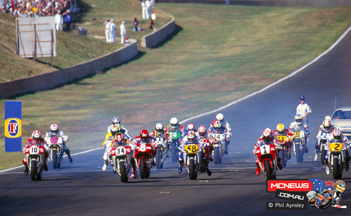 Start of the 500cc race