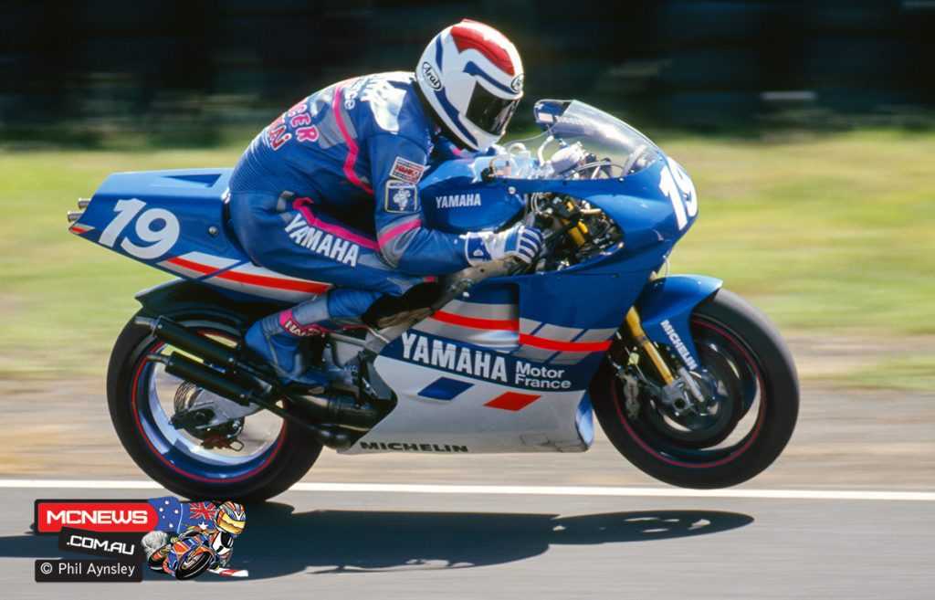 Freddie Spencer on the Yamaha YZR500.