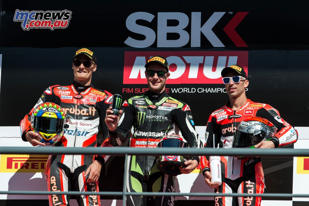Rea took the top spot on the podium for Race 1