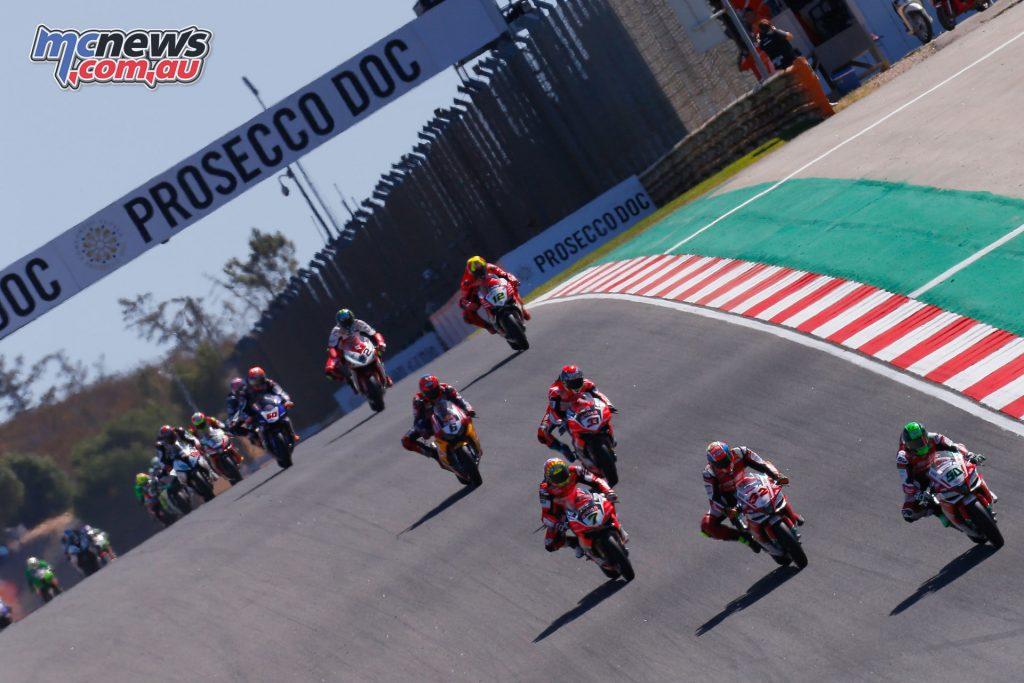 Superbikes in Portimao Race 1