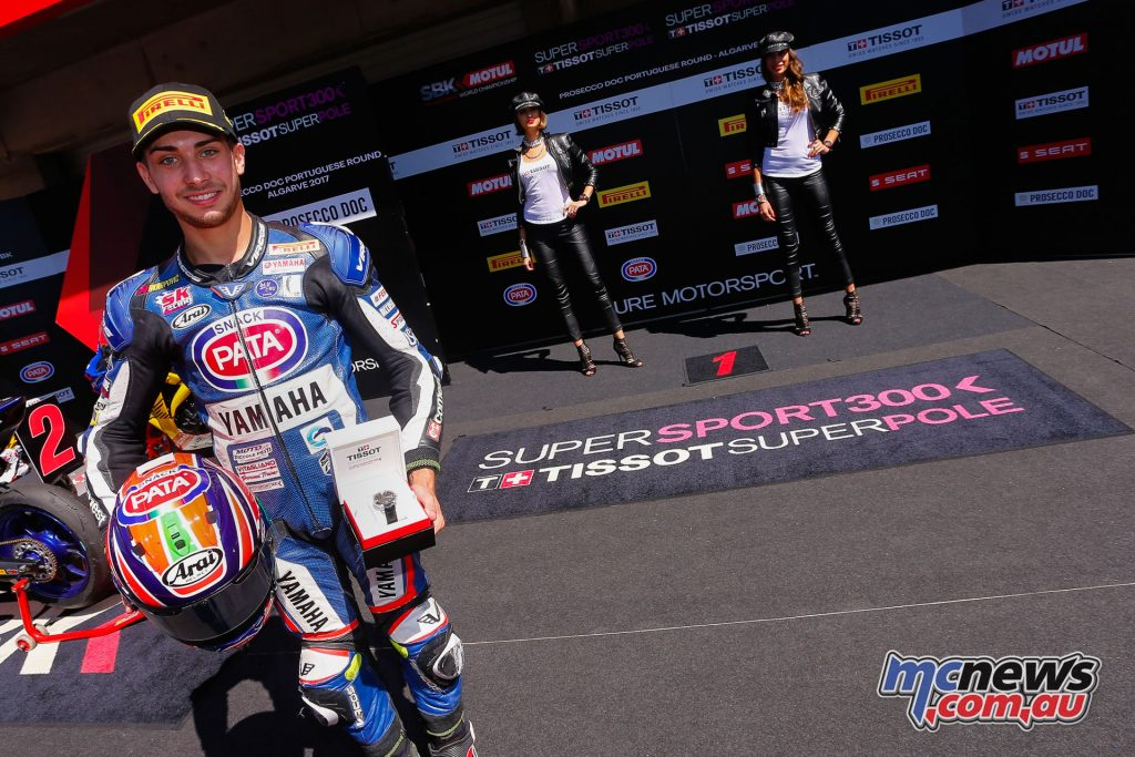 Alfonso Coppola took the Supersport 300 Pole in Portugal