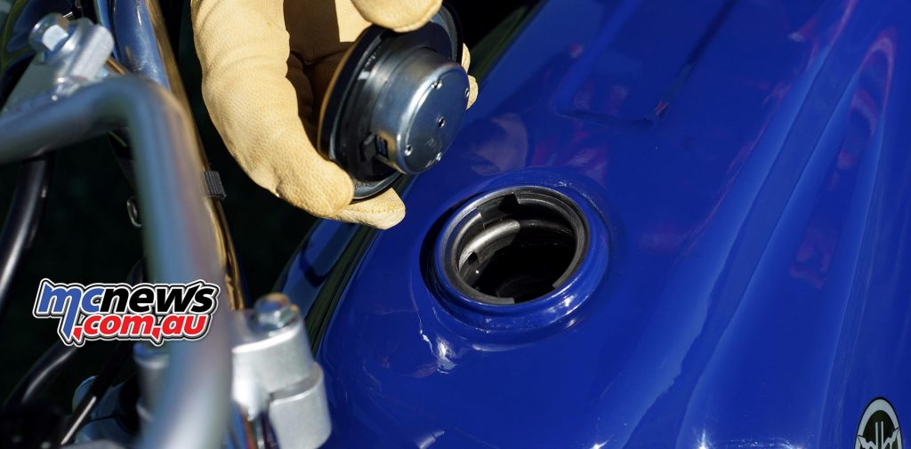 The fuel tank is steel and holds 11L, offering easy repairs and long term durability