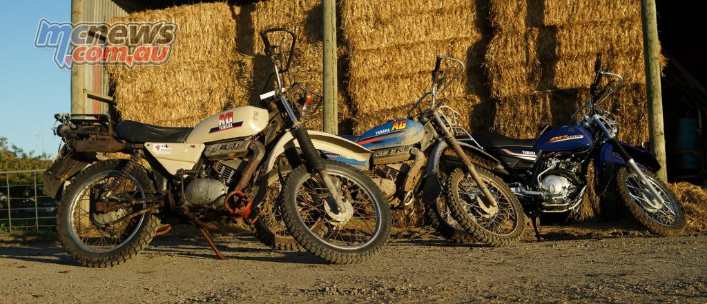 Old and new, the outgoing AG100 with the new AG125, unveiled at Henty Field day