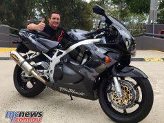 Happy buyer Stuart with his 'new' 1997 Honda CBR900RR